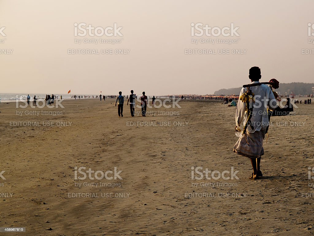 Tourism and Vacations in Bangladesh Cox's Bazar stock photo