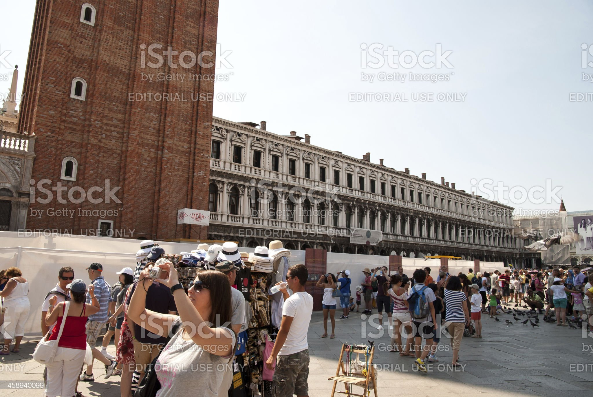 Tourism at St. Marks Square royalty-free stock photo