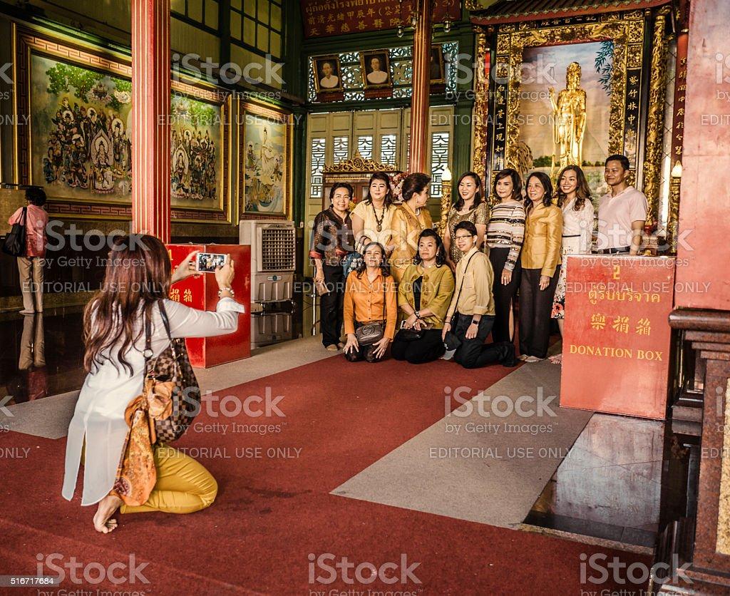 Tourism in Chinatown Bangkok Thailand stock photo
