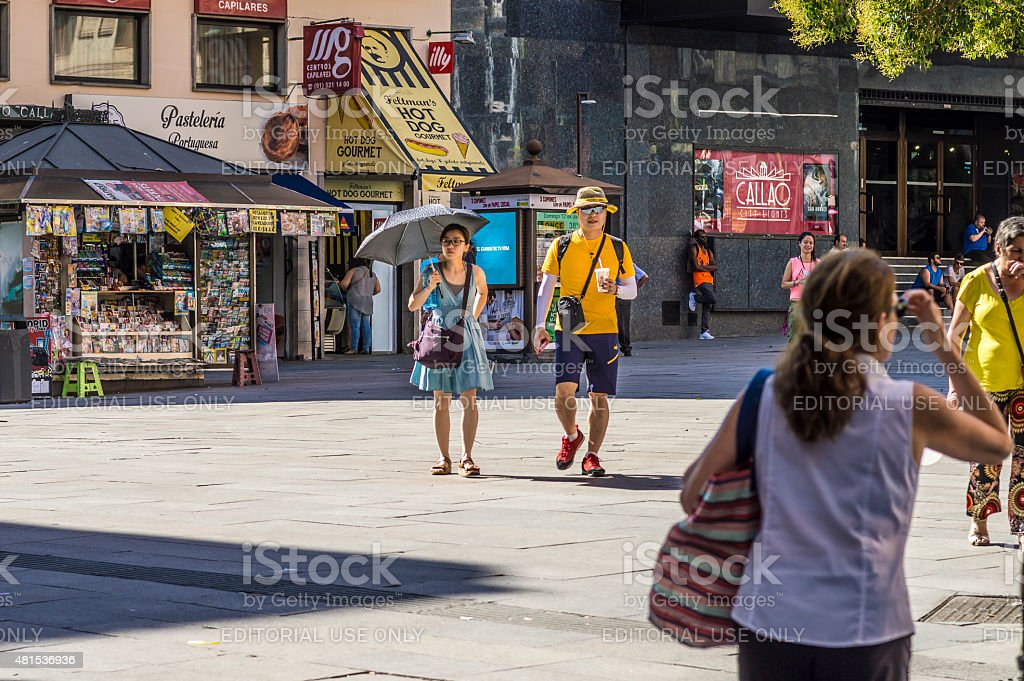 Tourism in Madrid stock photo