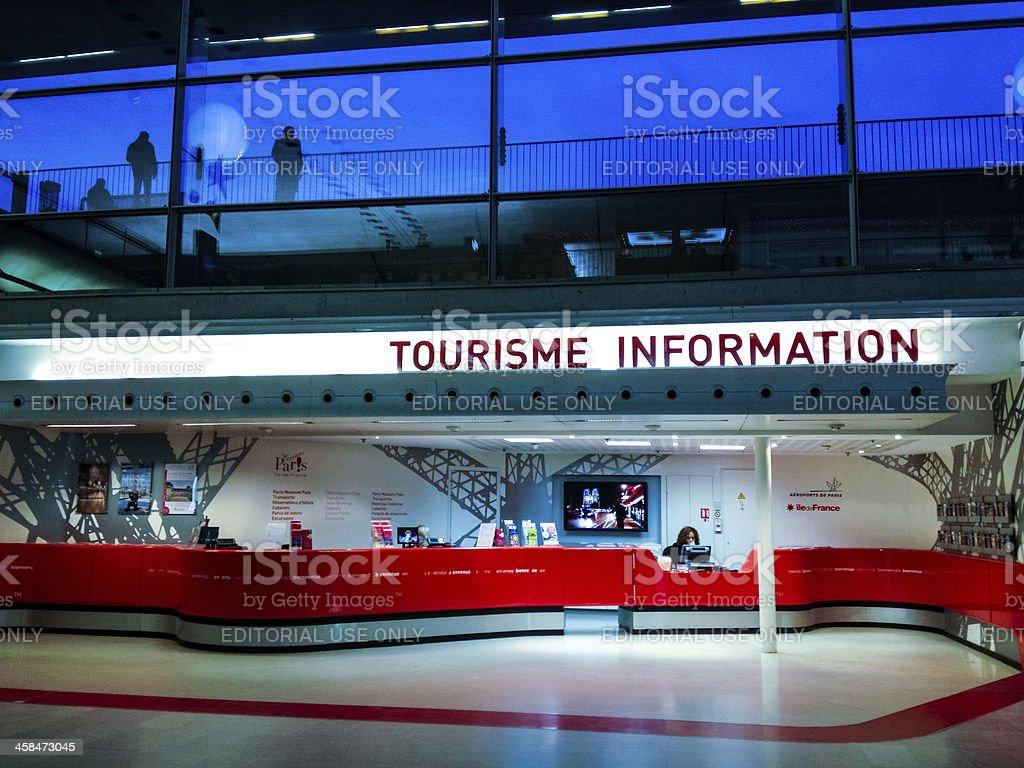 Tourisme Information at Airport Paris Charles De Gaulles stock photo