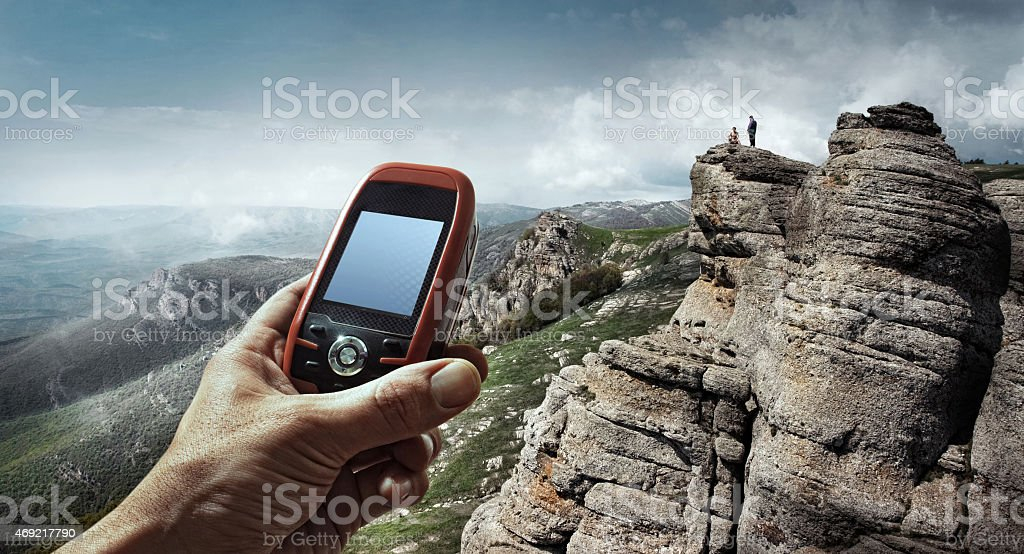 Tourism.Sport. GPS stock photo