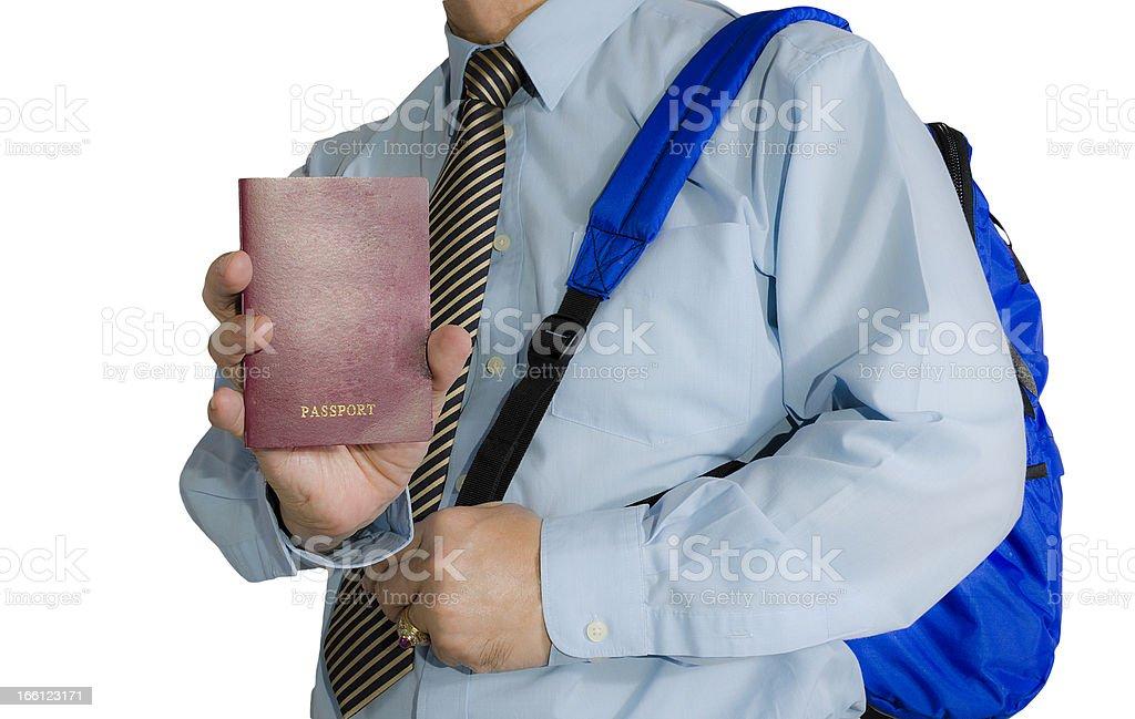 tourist and passport royalty-free stock photo