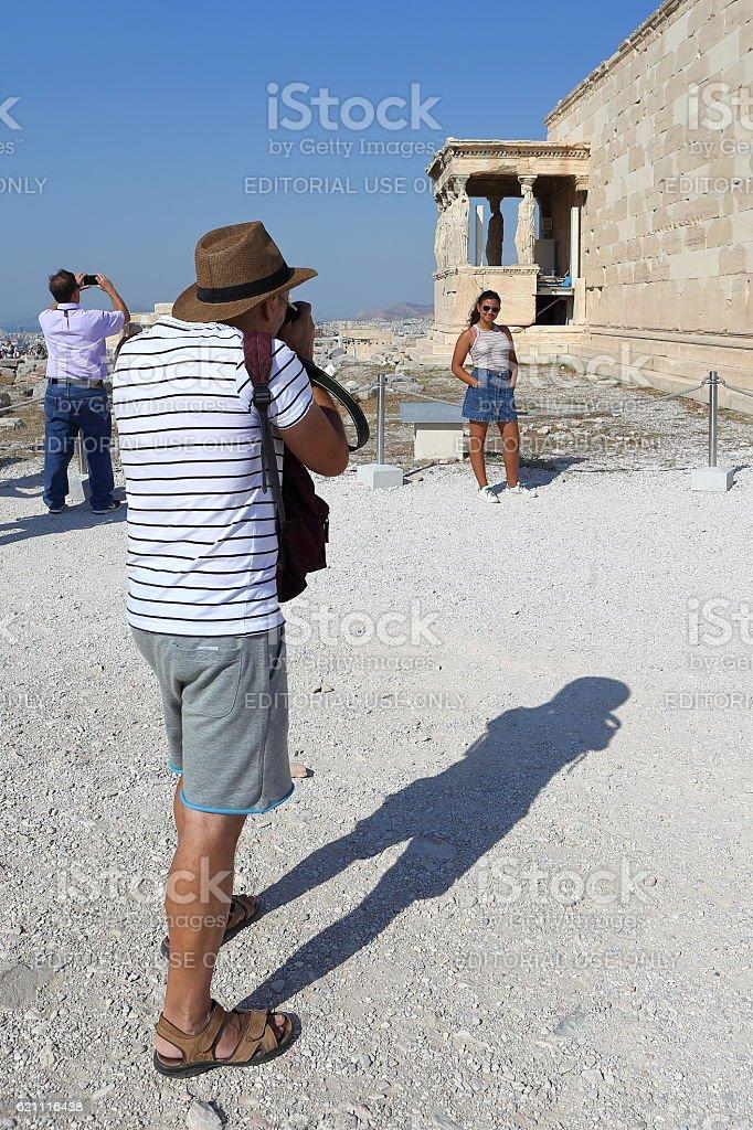 Tourist and photographer stock photo
