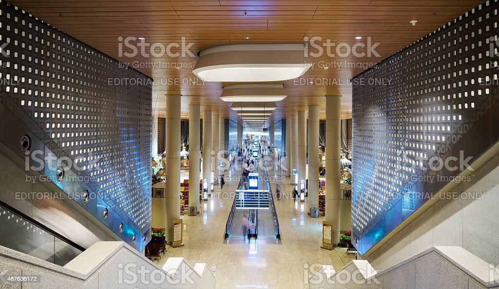 Tourist at Chhatrapati Shivaji International Airport. stock photo