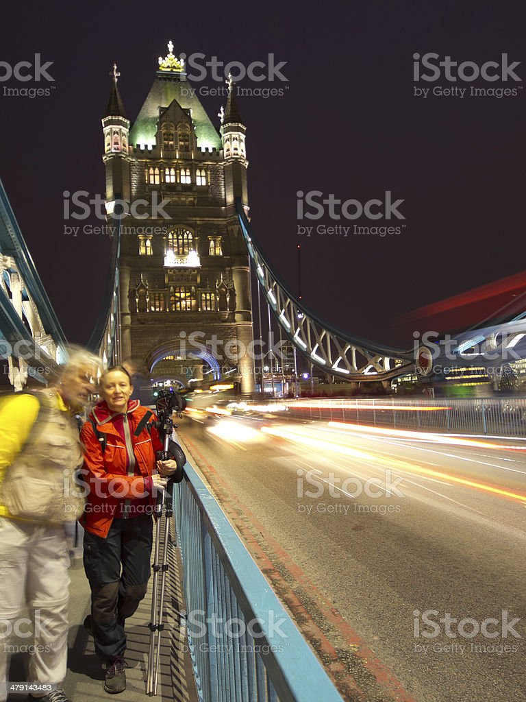 Tourist at Tower royalty-free stock photo