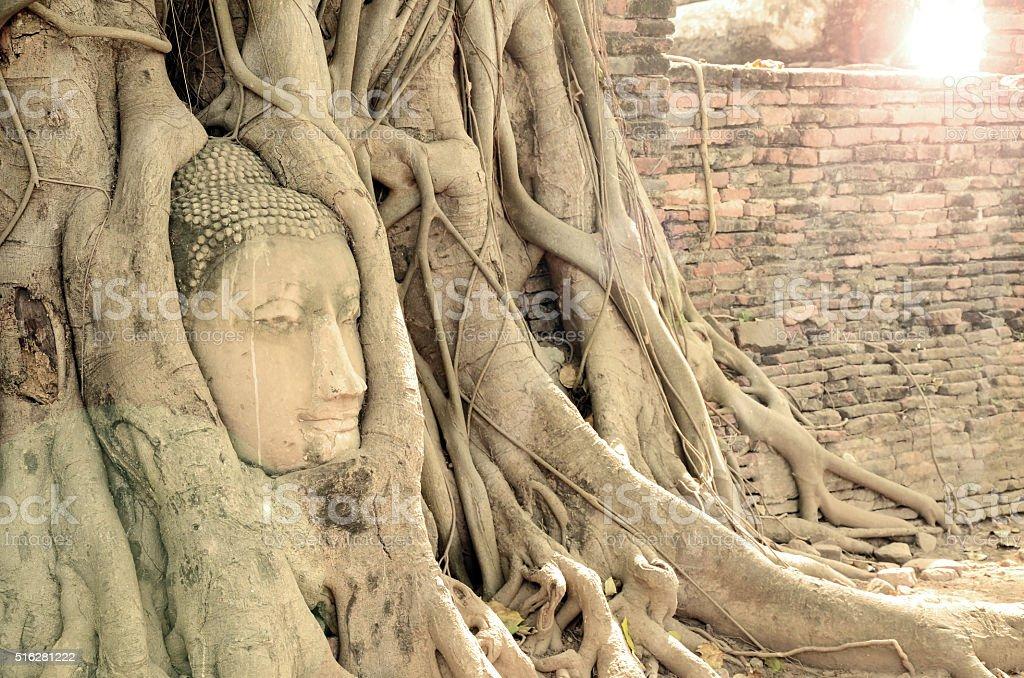 Tourist Attraction, Ancient Buddha Statue. stock photo