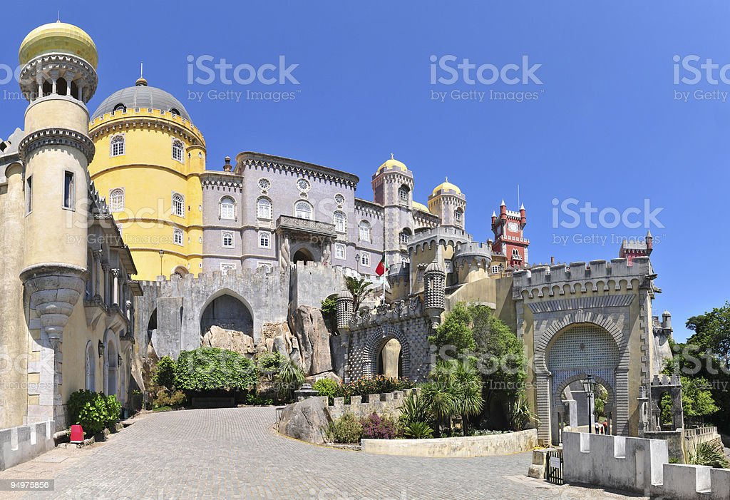 Tourist attraction of Pena Palace royalty-free stock photo