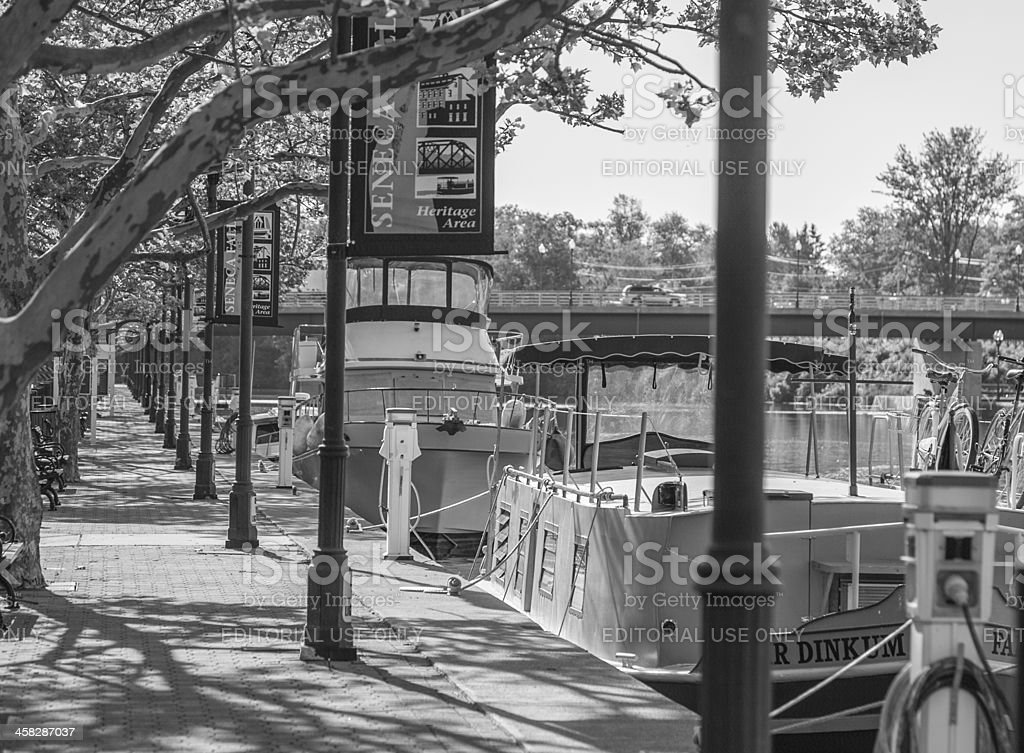 Tourist Barges - Erie Canal stock photo