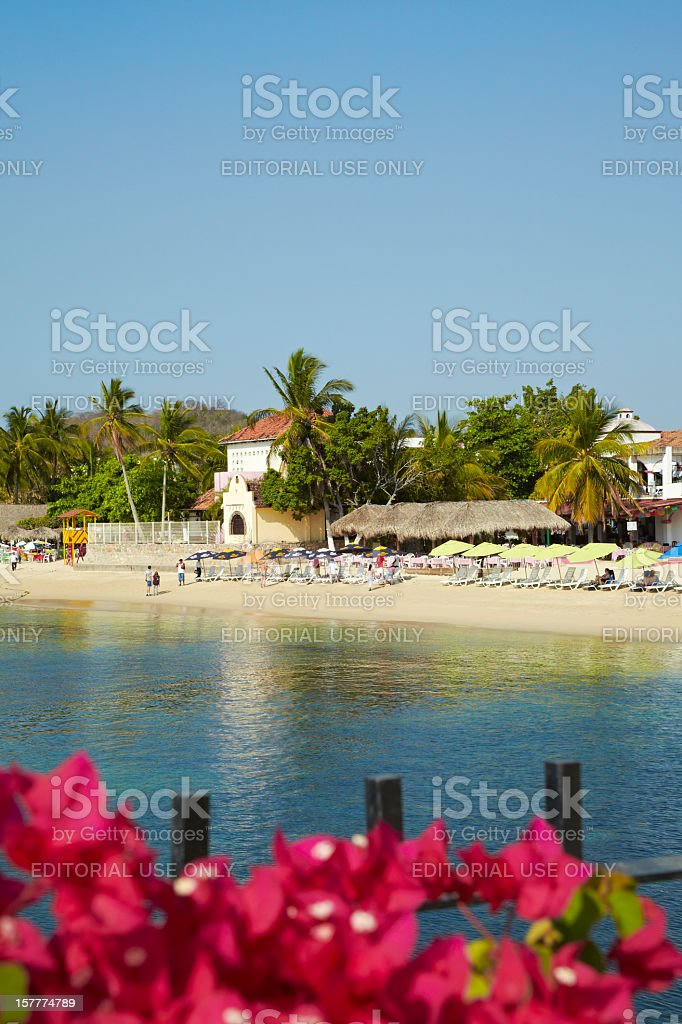 Tourist Beach, Huatulco, Mexico royalty-free stock photo