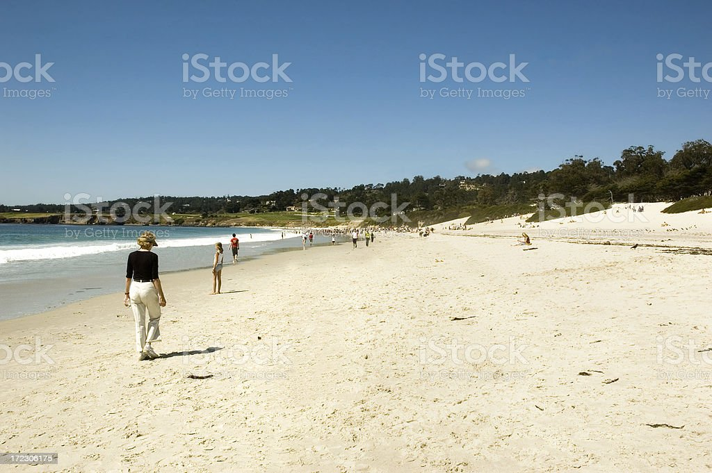 Tourist Beach royalty-free stock photo