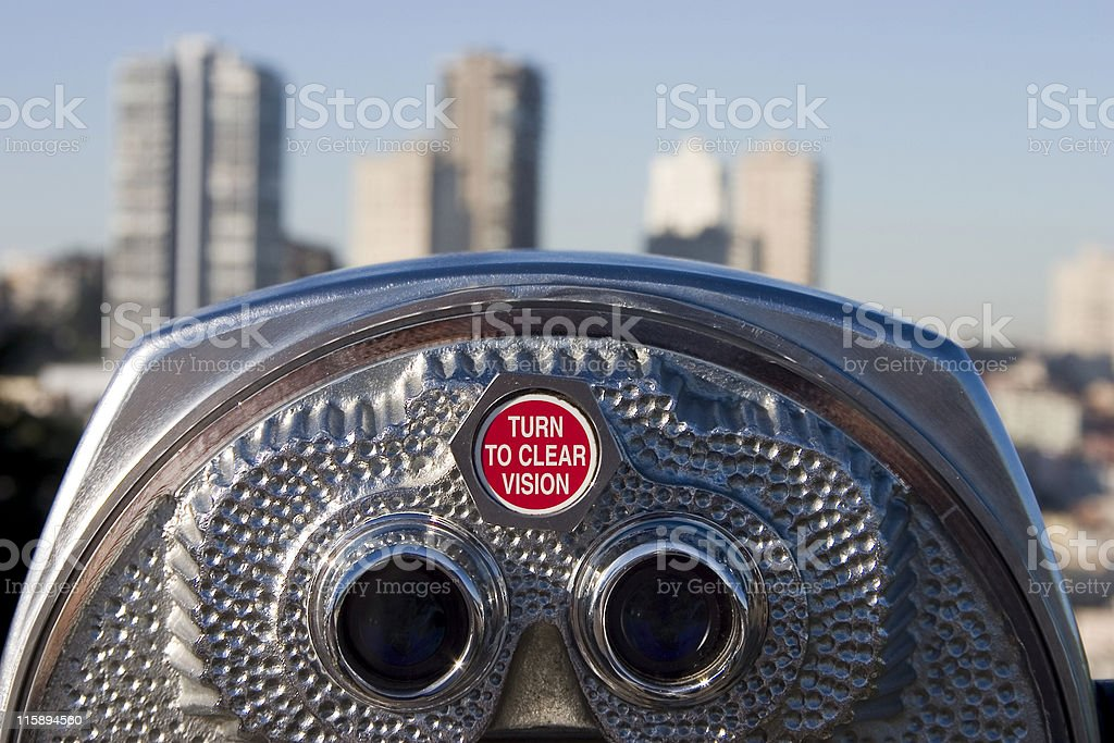 Tourist Binoculars 3 royalty-free stock photo