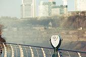 Tourist binoculars at Niagara Falls