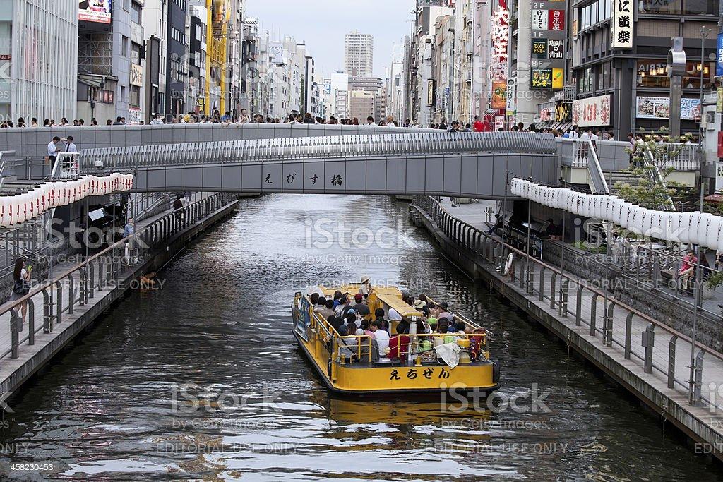 Tourist boat in Dotonbori, Osaka royalty-free stock photo