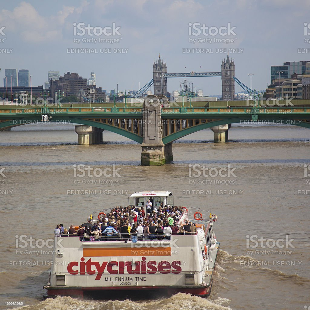 Tourist Boat in London stock photo