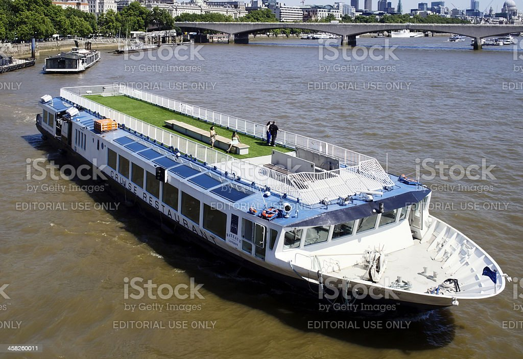 Tourist boat on the River Thames, London royalty-free stock photo
