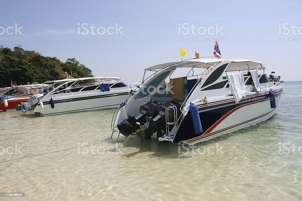 Tourist boats royalty-free stock photo