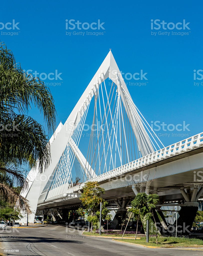 Tourist buildings of the city of Guadalajara stock photo