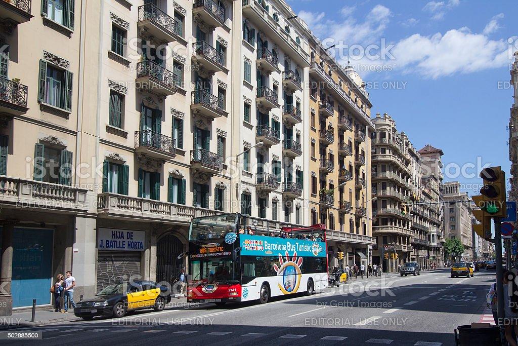 Tourist Bus in Barcelona, Spain stock photo