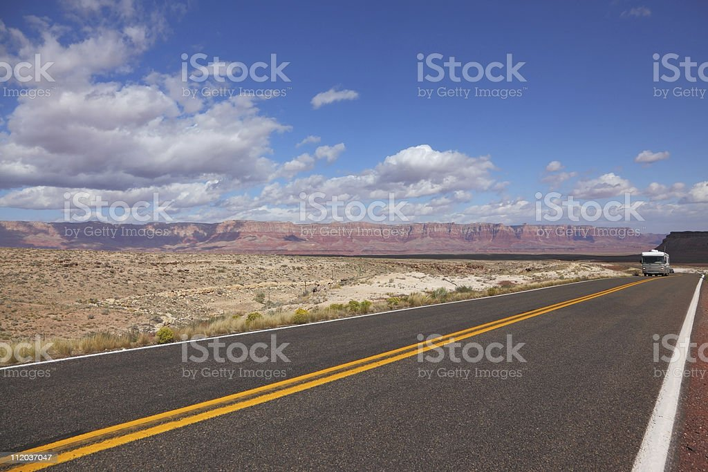 Tourist bus on road royalty-free stock photo