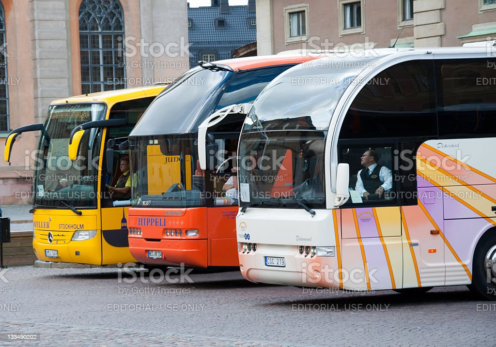 Tourist busses royalty-free stock photo