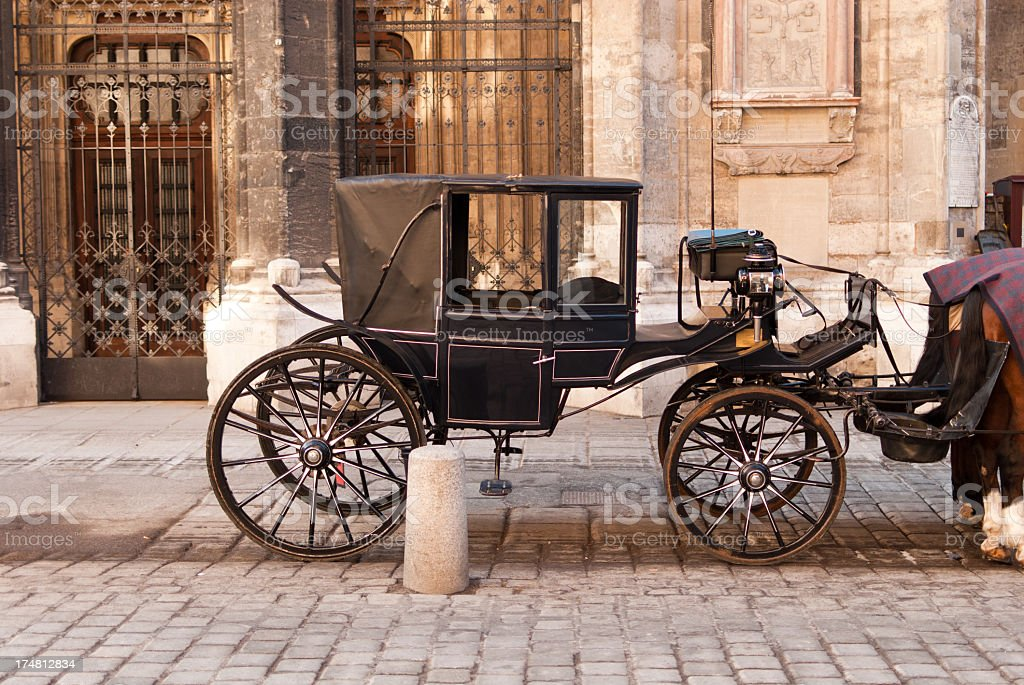 Tourist carriage stock photo