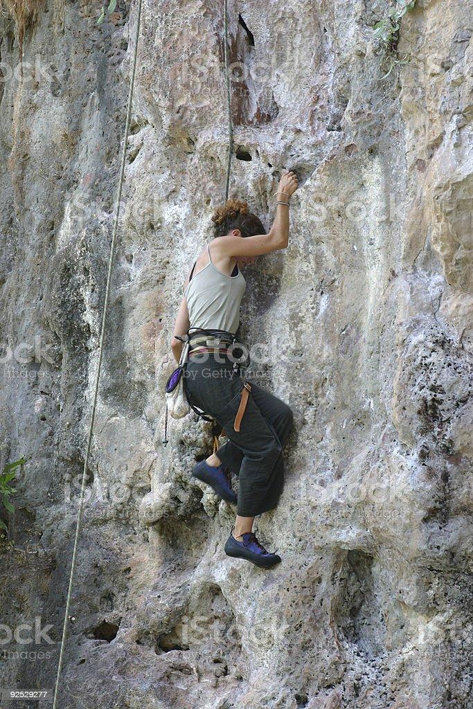 tourist climbing royalty-free stock photo