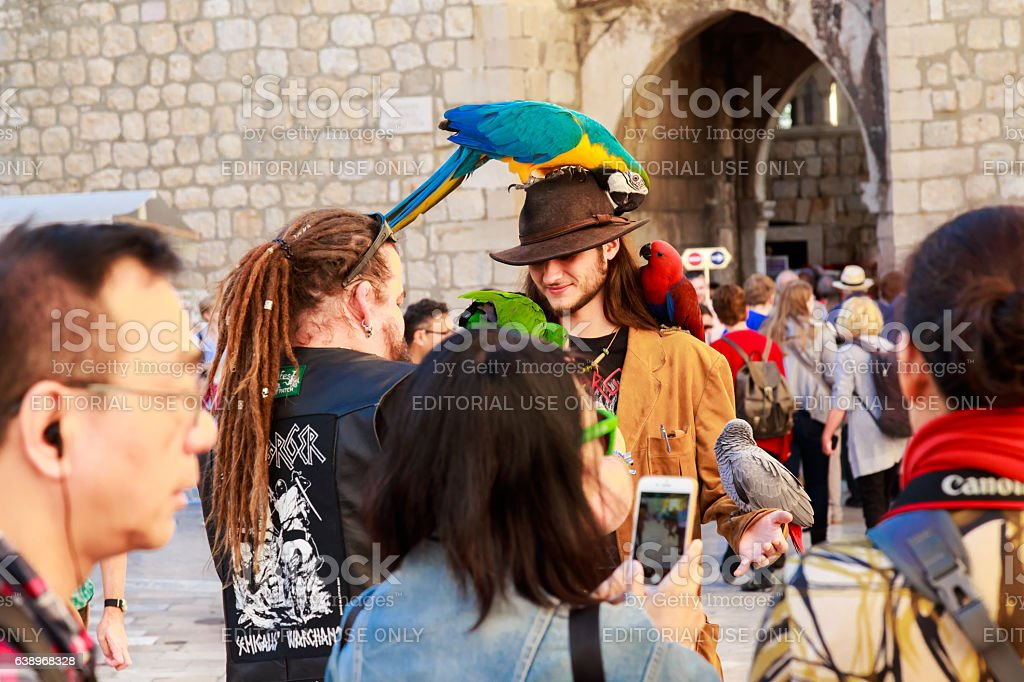 Tourist commerce in Dubrovnik stock photo