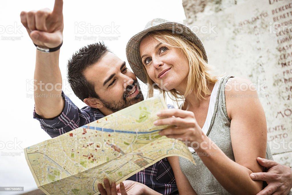 Tourist couple on vacation royalty-free stock photo