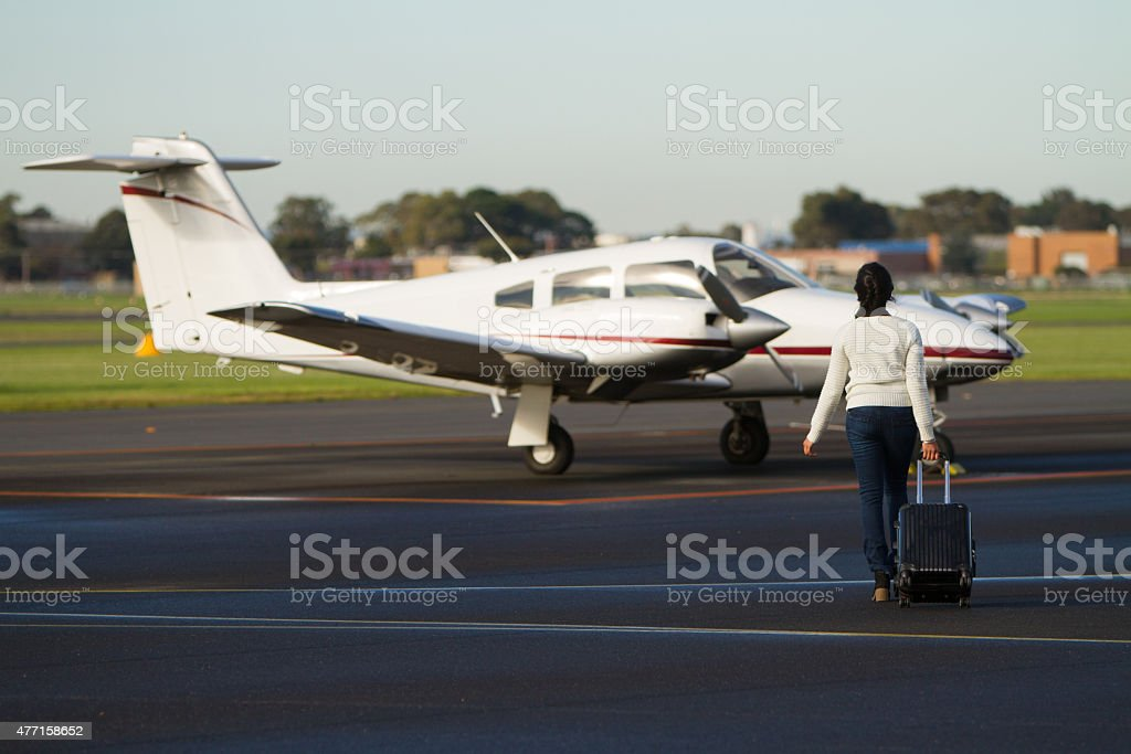 Tourist Departing stock photo