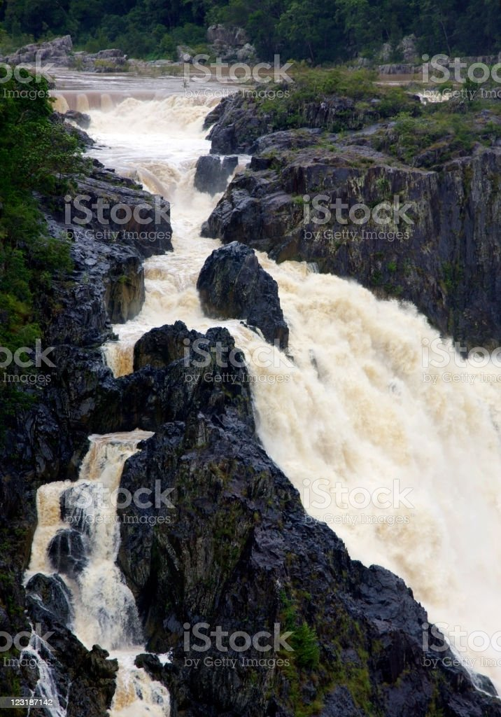 Tourist destination Barron Falls, Queensland, Australia royalty-free stock photo