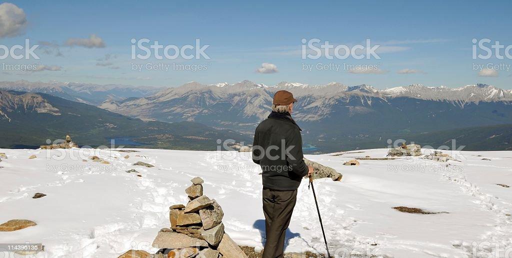 Tourist enjoying the scenery stock photo