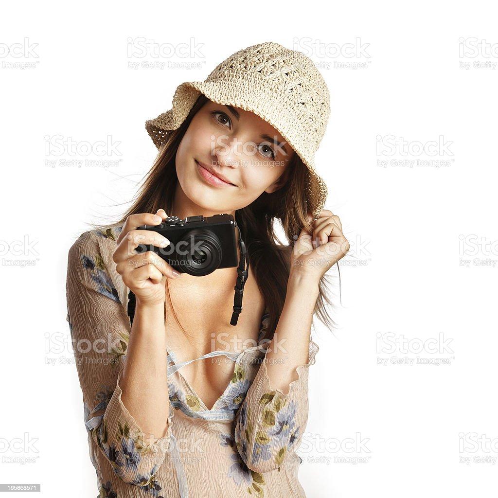 tourist girl portrait royalty-free stock photo
