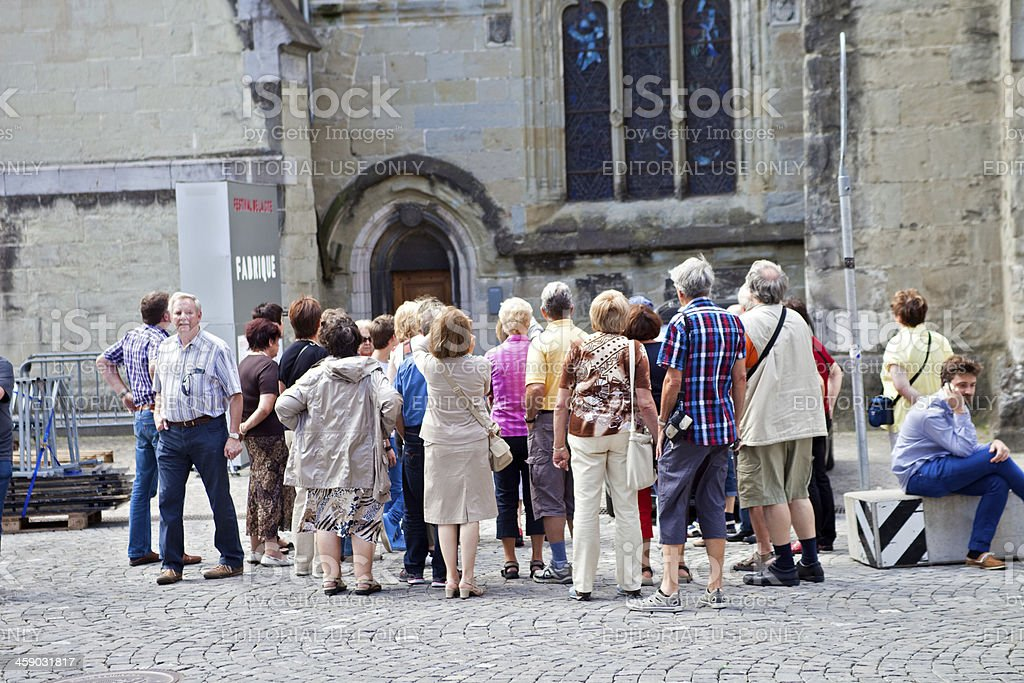 Tourist Group in Europe royalty-free stock photo