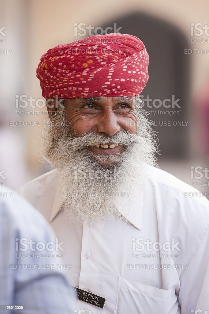 Tourist Guide Jaipur India Portrait royalty-free stock photo