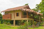 Tourist hut in the jungle