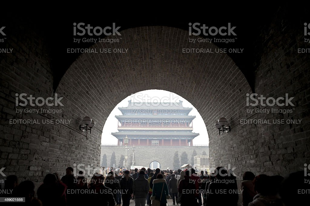 tourist in beijing royalty-free stock photo
