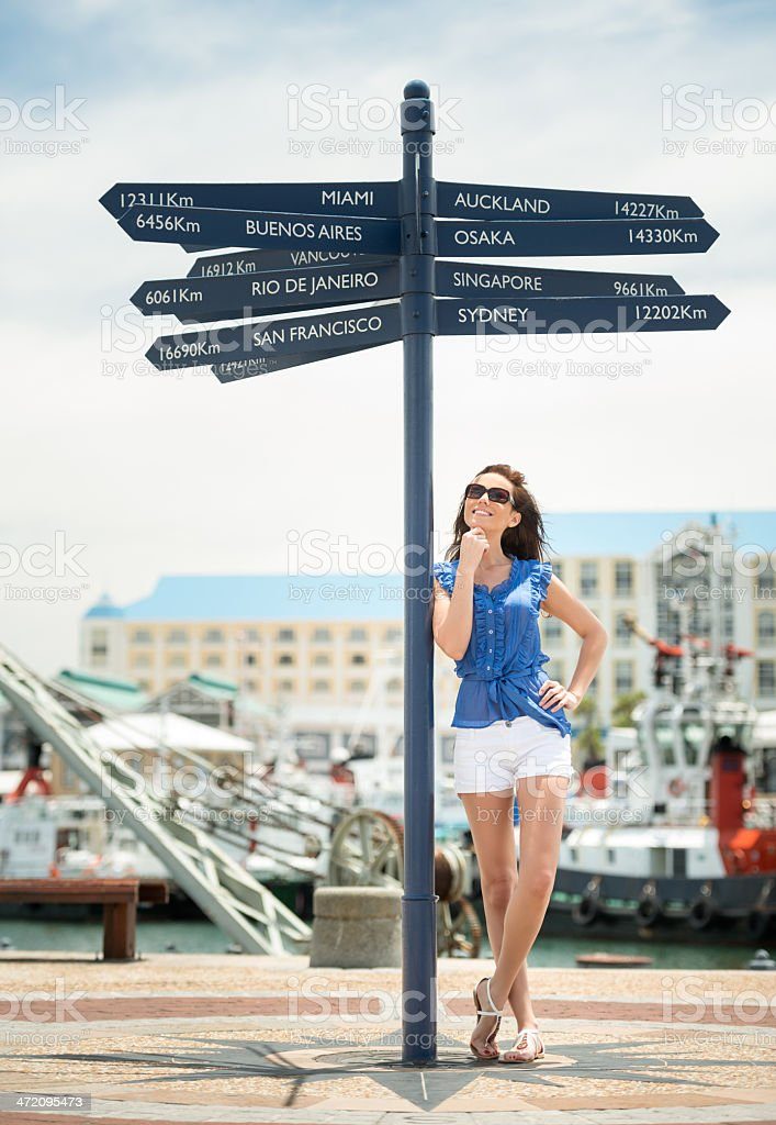 Tourist in Cape Town, South Africa stock photo