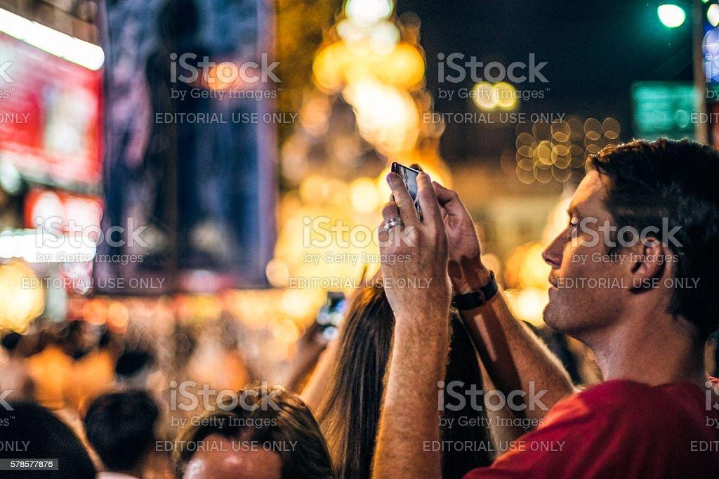 Tourist in festival stock photo
