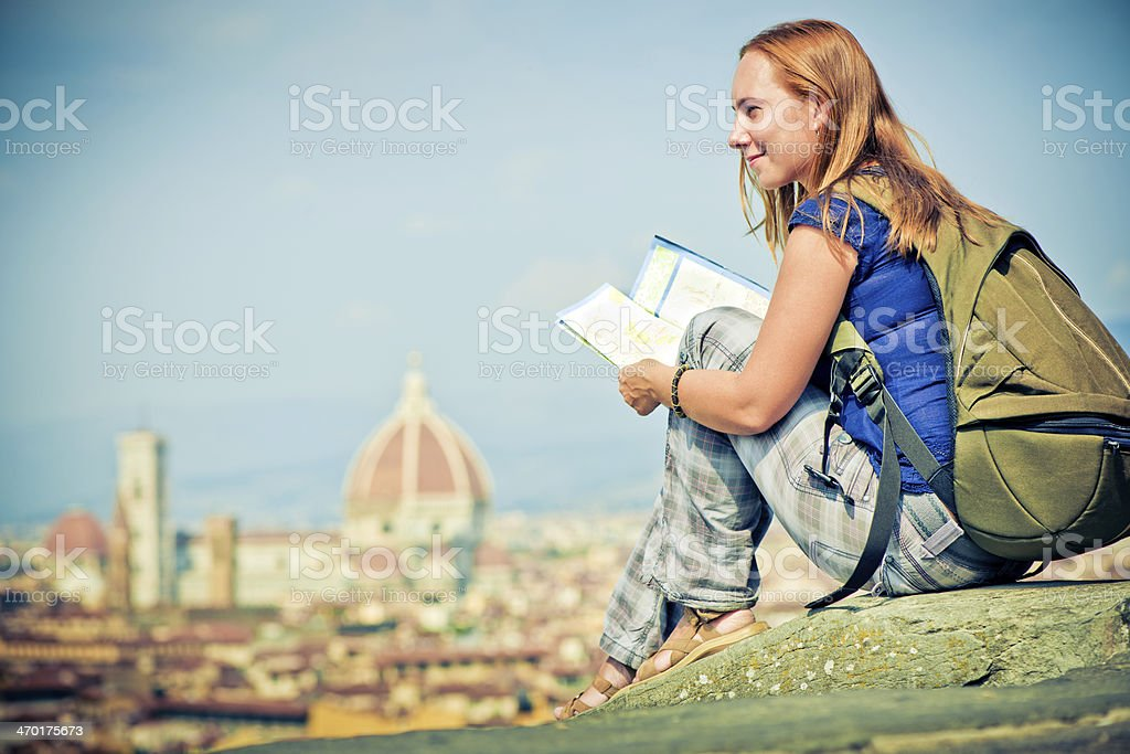 Tourist in Florence royalty-free stock photo