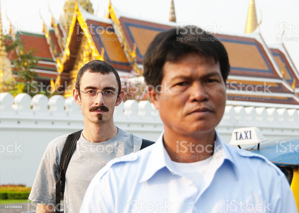 Tourist in Front of Grand Palace stock photo