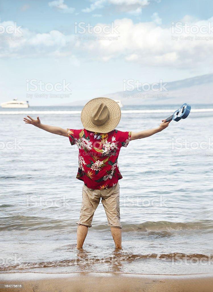 Tourist in Hawai royalty-free stock photo