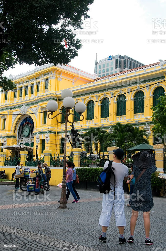 Tourist in Ho Chi Minh city, Vietnam stock photo
