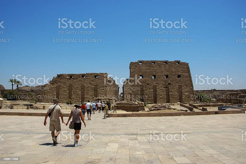 Tourist in Luxor Themple royalty-free stock photo
