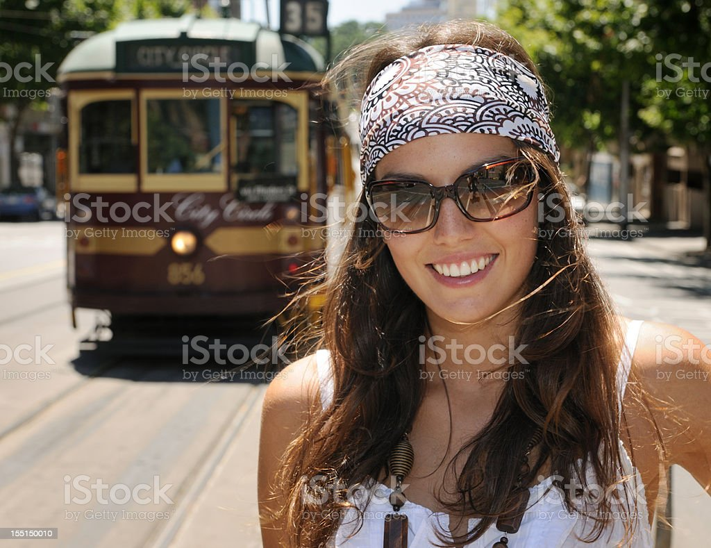 Tourist in Melbourne royalty-free stock photo