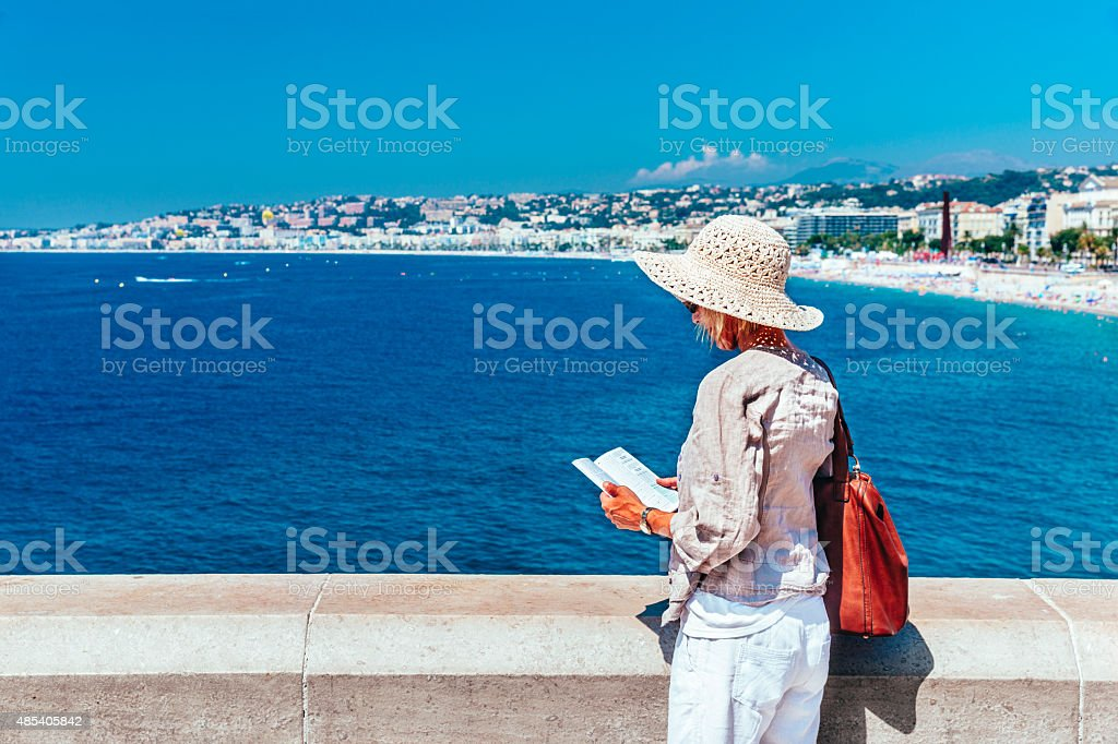 Tourist in Nice, France stock photo