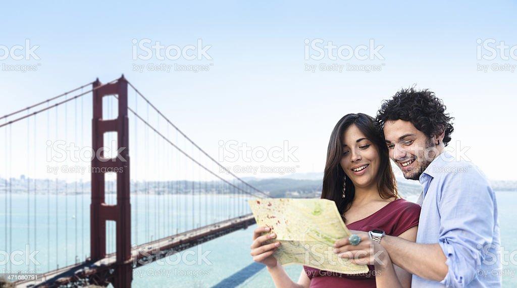 Tourist in san francisco royalty-free stock photo