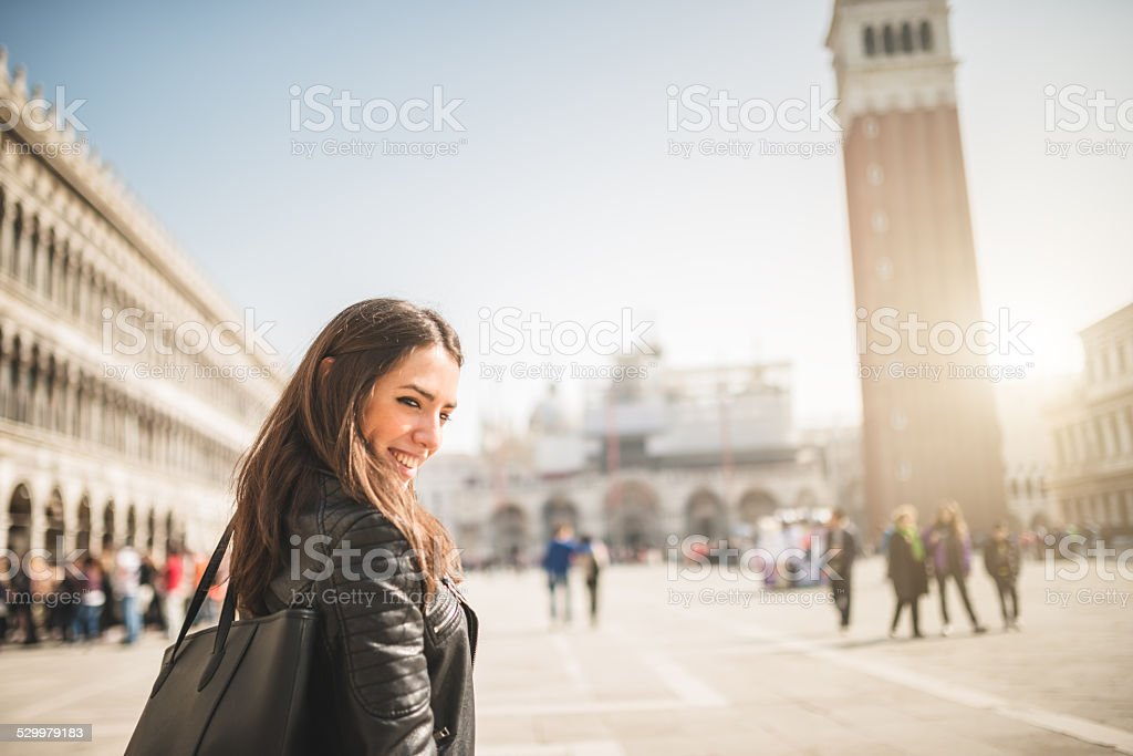 tourist in Venice stock photo