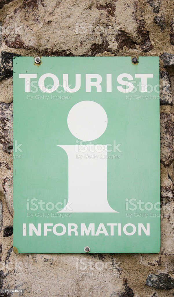 Tourist info sign royalty-free stock photo
