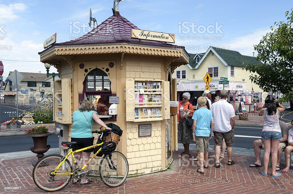 Tourist information at Martha's Vineyard stock photo